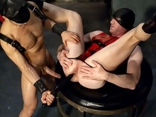 Nick Forte plows this sexy ass with a giant foot-long dildo