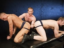 Both Men Hop On & Take The Whole Thing Deep Into Their Holes