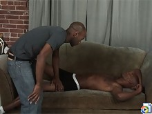Big dick black stud fucks his ebony gay friend