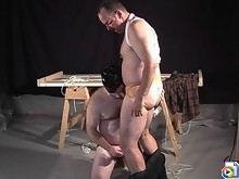 Bear fuckers lick each other's cum