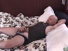 Baldie gets an ass full of hairy dick