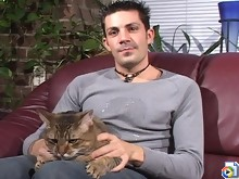A pair of horny studs giving head and using dildos