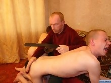 Horny twink gets punished by means of spanking
