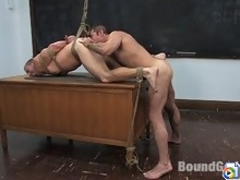 Teacher Nick Moretti punishes and fucks his student in bondage.