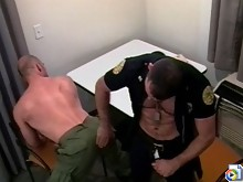 Cop goes in for a closer rectal look